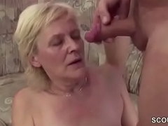 Young Boy Jolly along Granny to get His First Fuck