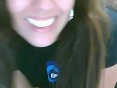 Beautiful smile rides horseshit on livecam - AdultWebShows.com