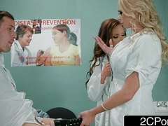 Dick Stuck In Fleshlight - Doctors Briana Banks &amp_ Nikki Benz Give Do without