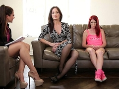 An obstacle Family Therapist - Elle Alexandra, Allie Haze, Angela Sommers