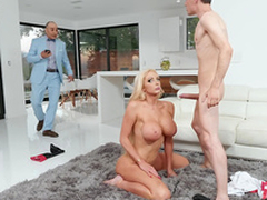 Rich wife Nicolette Shea gets caught cheating and taking a facial from eradicate affect horse d'marche