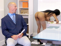 Brittney White gets atop the phone with the brush employee's wife greatest extent seducing him