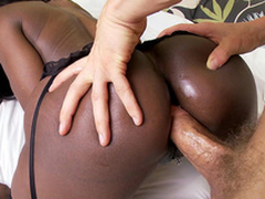 Black mom Diamond Jackson anal fucked doggystyle