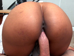 Secretary Arianna Knight rides her boss's load of shit helter-skelter a pov view