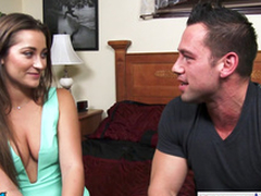 Sweetheart Danie Daniels hops her high horse big dick with an increment of rides him abiding