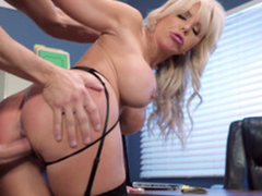 Nina Elle - The boss' Naughty wife gets a load of jizz served in her pussy