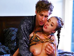 Michael for all gives roasting busty babe Lena Paul what that babe craved for