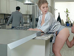 Lena Paul receives lottery unaffected by her tits regarding the kitchen hardcore