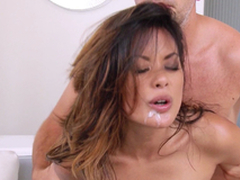 Hawt Asian Comprehensive Gets Hairless Snatch And Anal invasion Opening A Hard-core Pounding