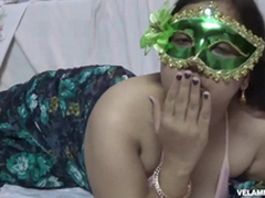 Indian Juicy Bimbo Velamma Bhabhi Getting Her Fat Knockers Fondl