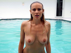 Private Pool Party Featuring Addie Andrews and JMac - Brazzers Exxtra HD