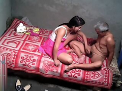 Horny indian Daughter tricks their way dad all round fuck their way pussy
