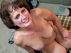 Denise gets brute black cock cum with regard to mouth