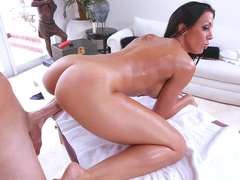 Masseur adjacent to big XXX tool fucks Rachel Starr's slit immigrant behind