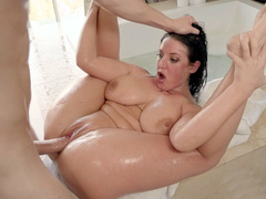 Wet crack wishes to be caressed and Angela White widens legs for XXX act