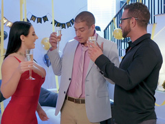 Drunk Angela White is unhappy with sleeping husband wanting XXX act
