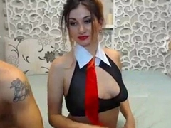 Lipstick girl fucks and misapplied talks on webcam - AdultWebShows.com