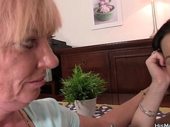 Teen and her throw of the dice mother-in-law toying