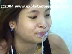 Peck Cute Thai Amateur Teen 18 Gets Face Full Of Jizz