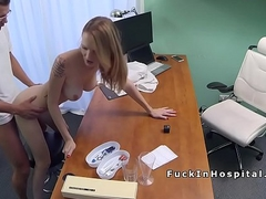 Doctor bangs busty babe after investigation