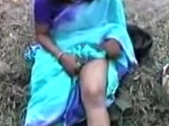 Bengali girl showing boods outside
